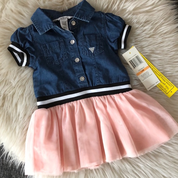 GUESS Baby Tulle Denim Dress 12 mo.